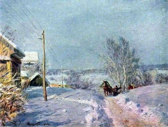 Description of the painting by Victor Tsyplakova Frost and Sun
