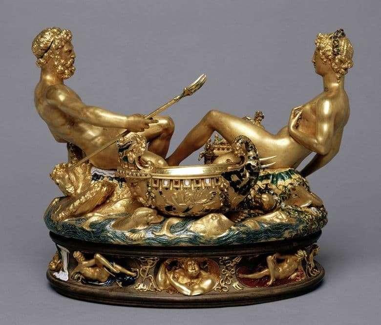 Description of the sculpture Benvenuto Cellini Saliera