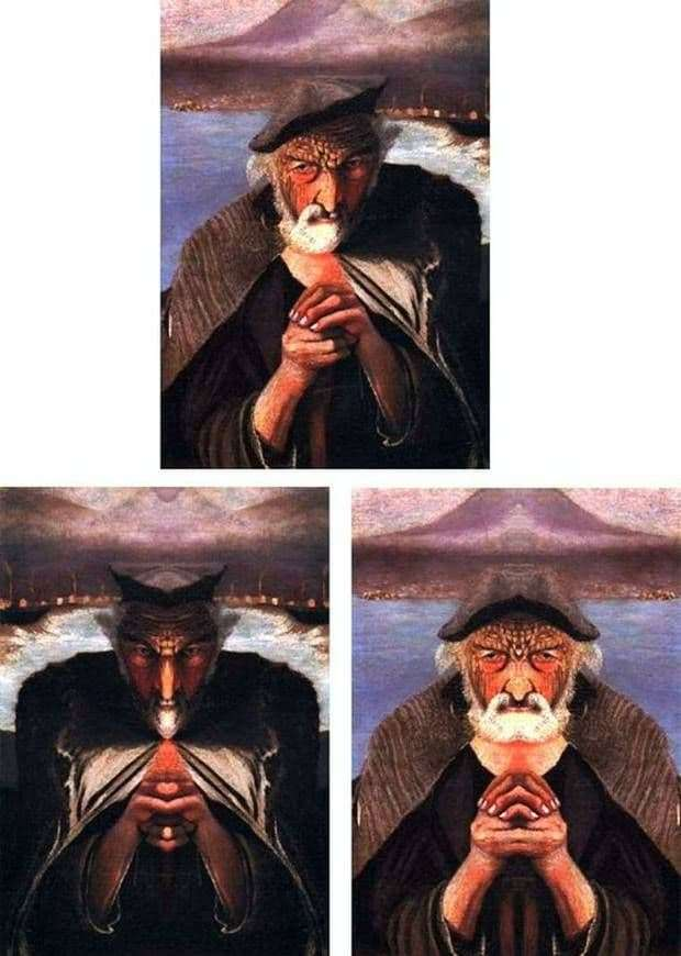 Description of the painting by Tivadar Kostki Chontvari Old Fisherman