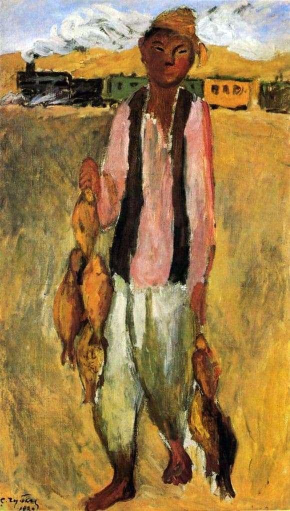 Description of the painting by Semen Chuikov Work