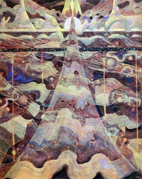 Description of the painting by Mikalojus Čiurlionis Sonata of the Stars