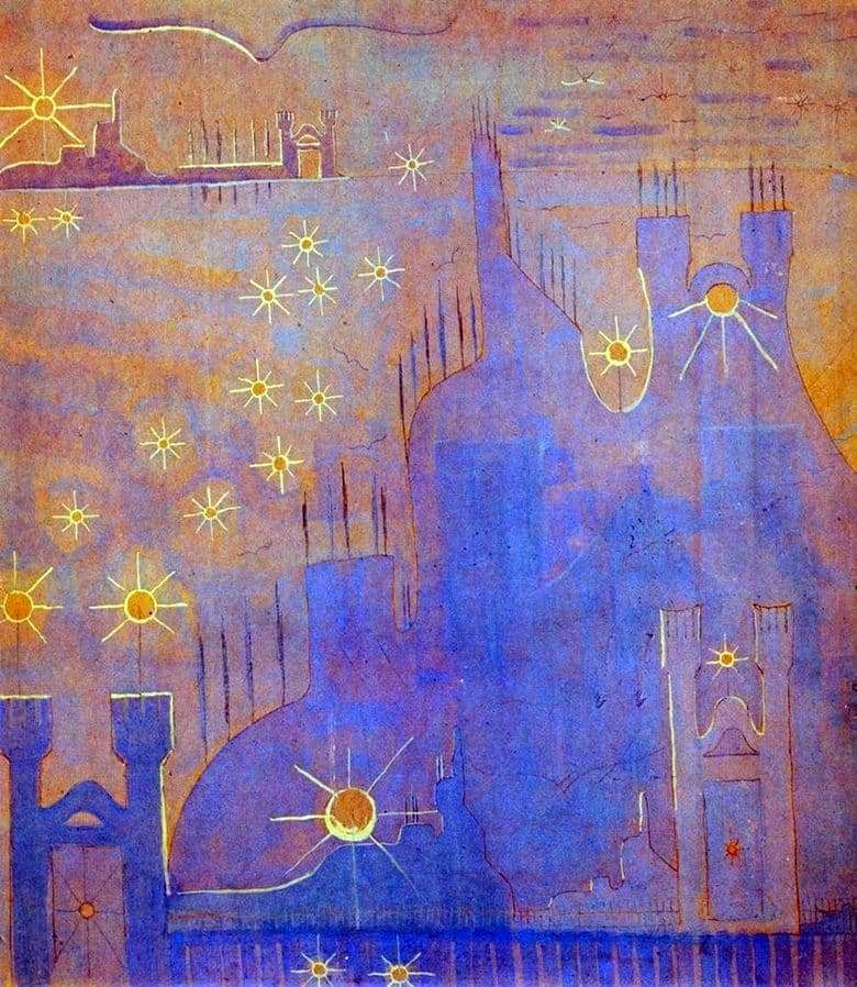 Description of the painting by Mikalojus Čiurlionis Sonata of the Sun
