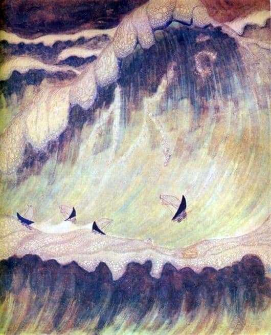 Description of the painting by the paintings of Mikalojus Čiurlionis Sonata of the Sea