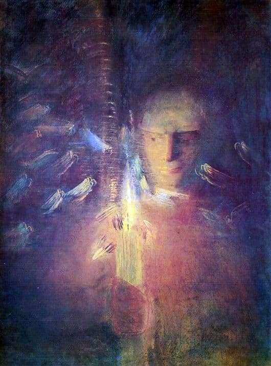 Description of the painting by Makaloyus Čiurlionis Truth