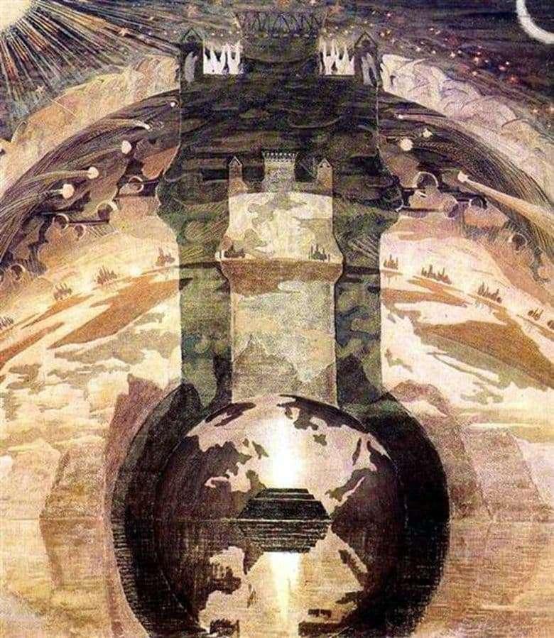 Description of the painting by Mikalojus Čiurlionis Rex
