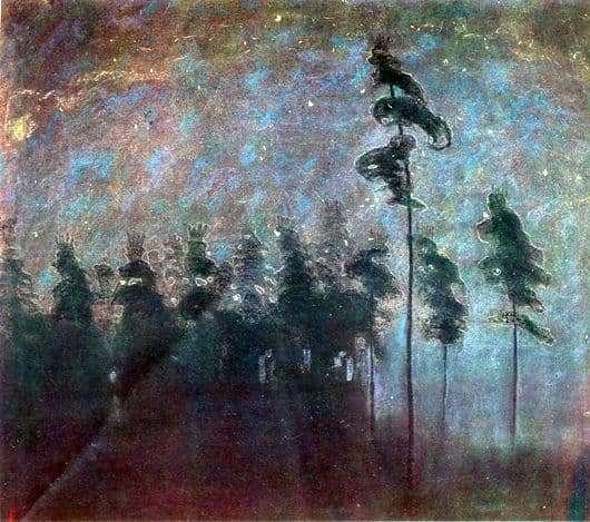 Description of the painting by Mikalojus Čiurlionis Forest