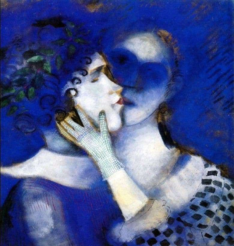 Description of the painting by Marc Chagall Blue lovers