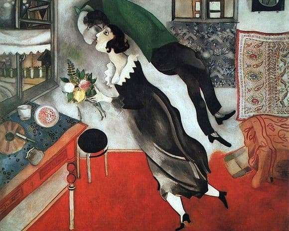 Description of the painting by Marc Chagall Birthday