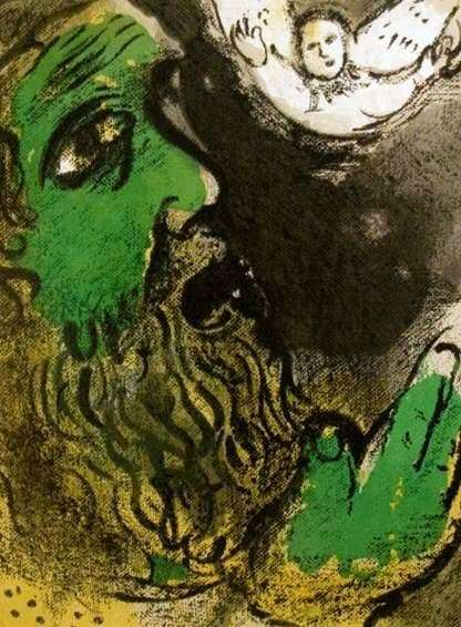 Description of the painting by Marc Chagall Bible story