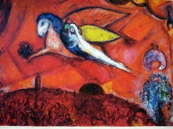 Description of the painting by Marc Chagall Song of Songs