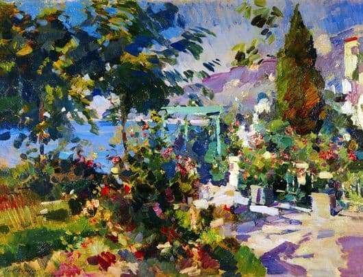 Description of the painting by Konstantin Korovin Gurzuf