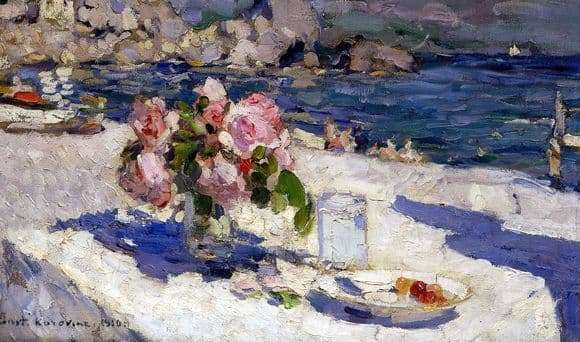 Description of the painting by Konstantin Korovin On the Sea