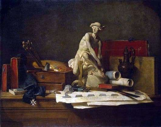 Description of the painting by Jean Baptiste Chardin The Attributes of Art
