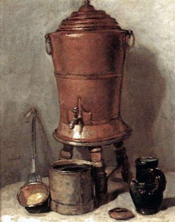 Description of the painting by Jean Baptiste Chardin Copper Water Tank