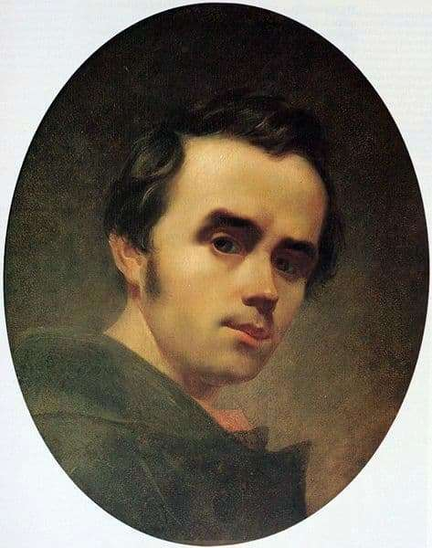 Description of the painting by Taras Shevchenko Self portrait