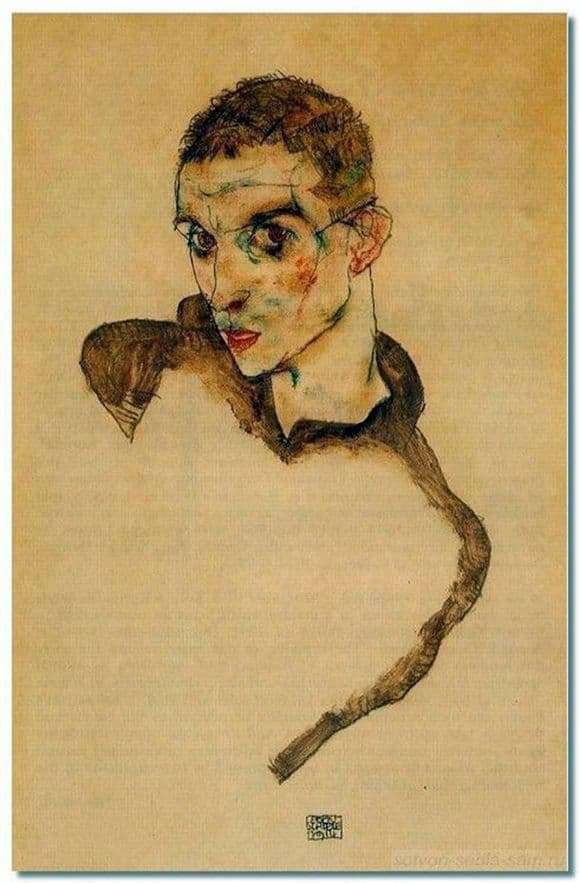 Description of the painting by Egon Schiele Love