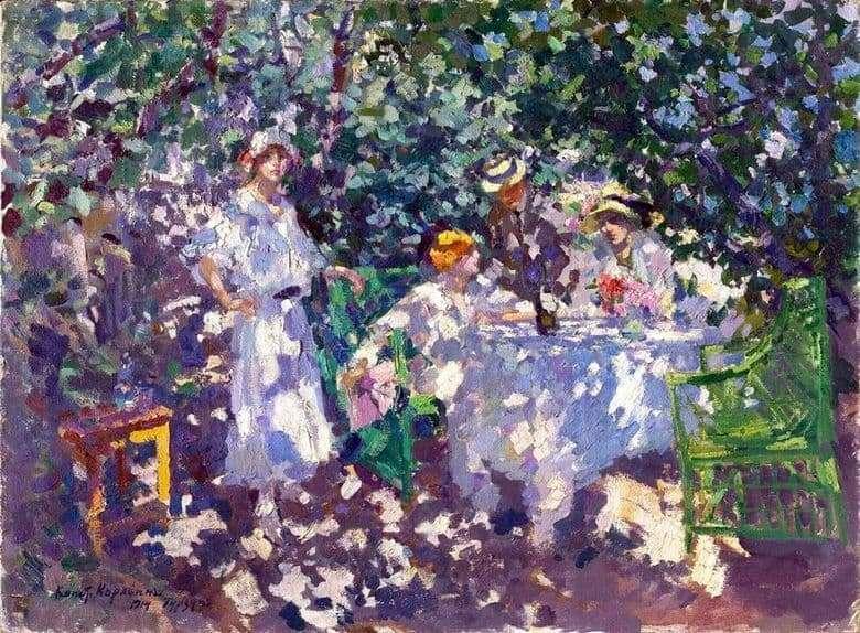 Description of the painting by Konstantin Korovin In the garden. Gurzuf