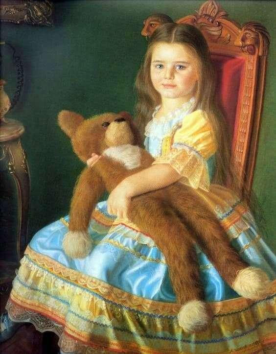 Description of the painting by Alexander Shilov Masha