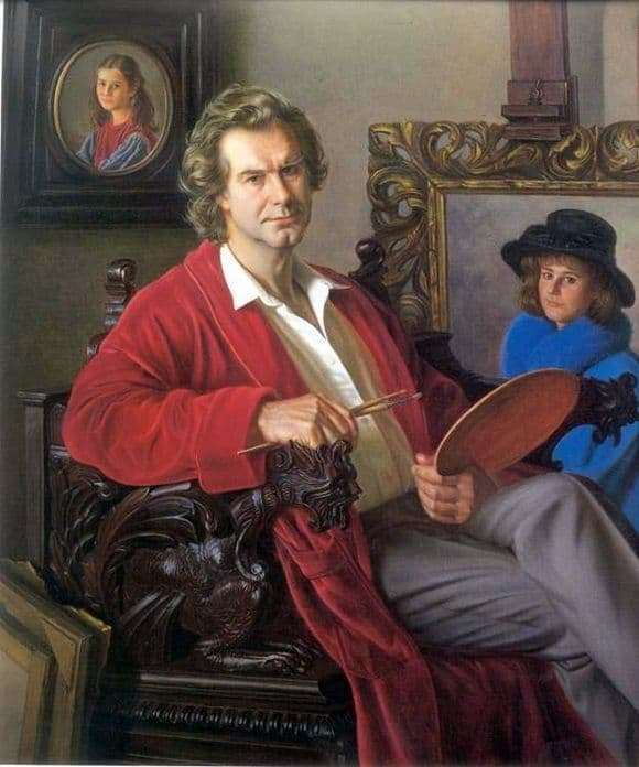 Description of the painting by Alexei Shilov Self Portrait