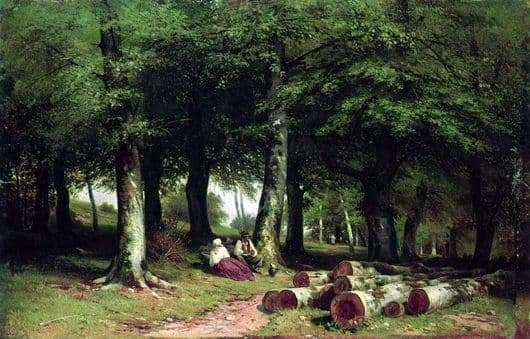 Description of the painting by Ivan Shishkin In the grove