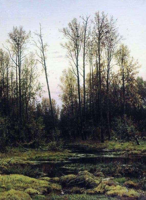 Description of the painting by Ivan Shishkin Forest in the spring