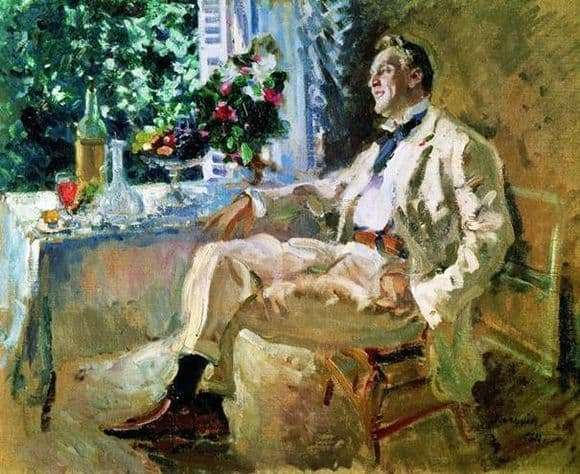 Description of the painting by Konstantin Korovin Portrait of Chaliapin
