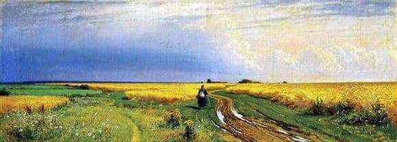 Description of the painting by Ivan Shishkin Road in the Rye