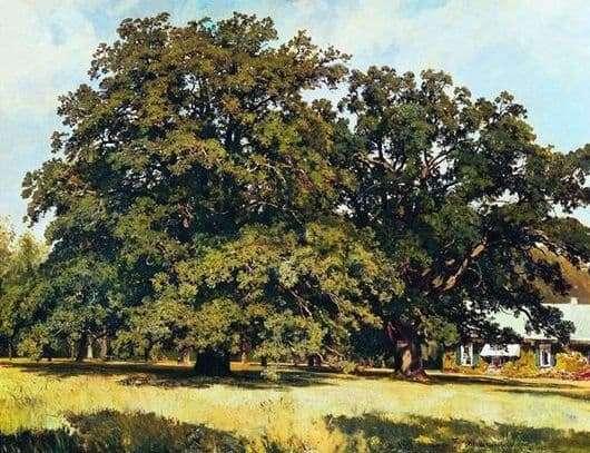Description of the painting by Ivan Shishkin Mordvin Oaks