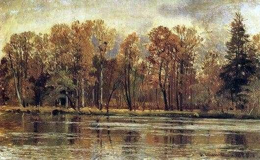 Description of the painting by Ivan Shishkin Golden Autumn