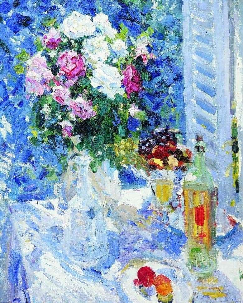 Description of the painting by Konstantin Korovin Flowers and fruits (1911)