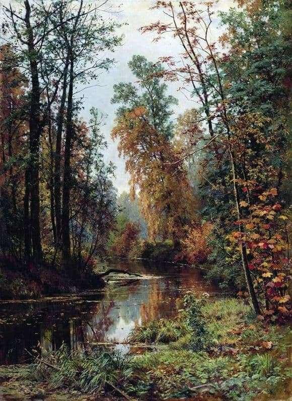 Description of the painting by Ivan Shishkin Park in Pavlovsk