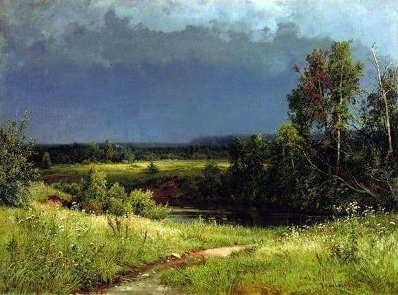 Description of the painting by Ivan Shishkin Before the storm