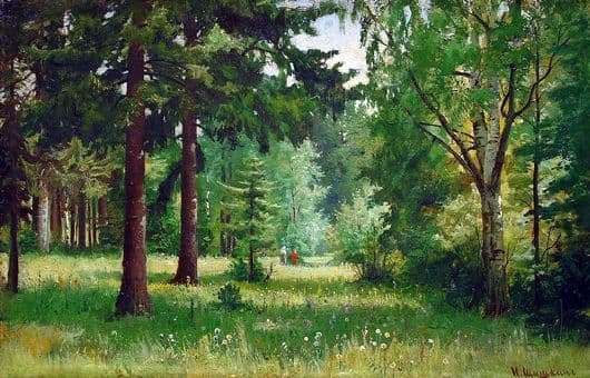 Description of the painting by Ivan Shishkin Children in the forest