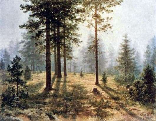 Description of the painting by Ivan Shishkin Fog in the forest