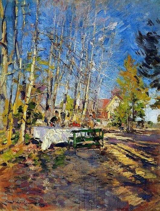 Description paintings Constantine Korovin Spring