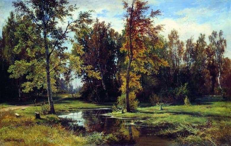 Description of the painting by Ivan Shishkin Birch Forest