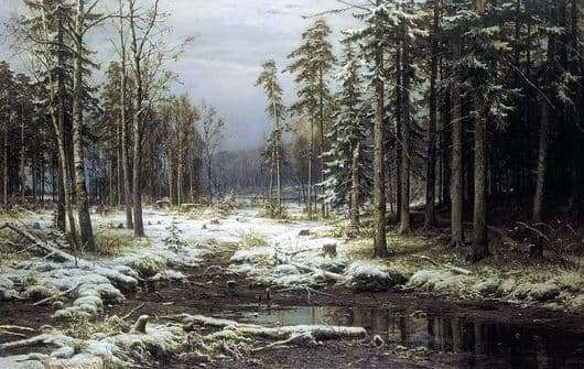 Description of the painting by Ivan Shishkin First Snow