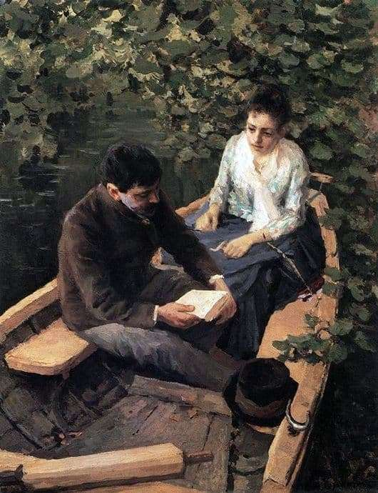 Description of the painting by Konstantin Korovin In the boat
