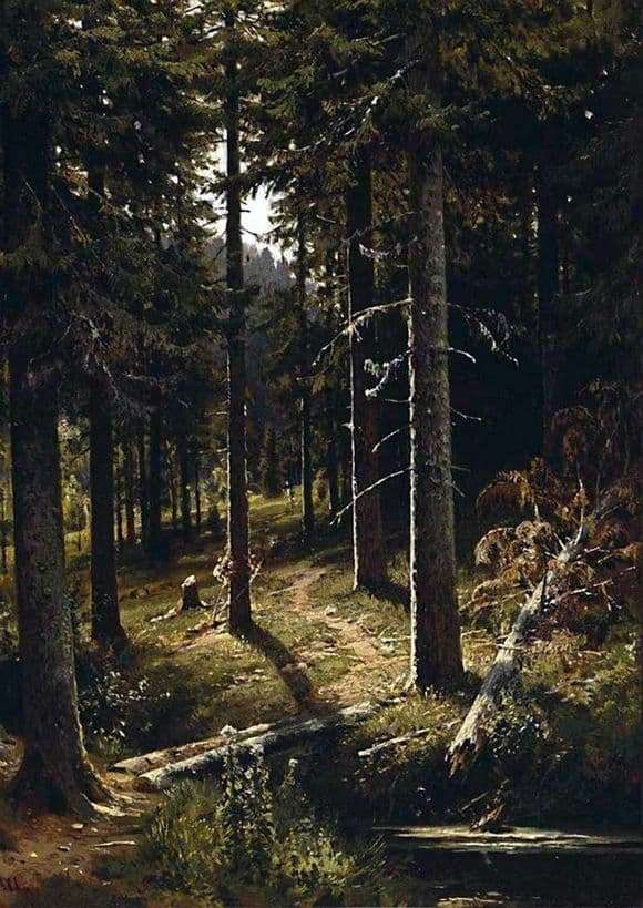 Description of the painting by Ivan Shishkin Forest Landscape