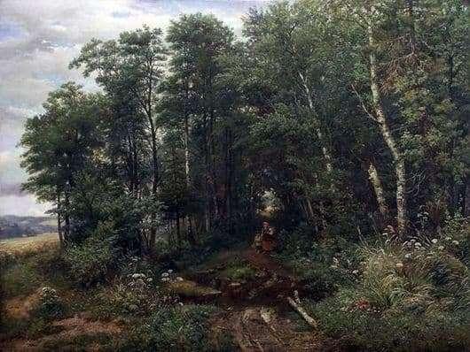 Description of the painting by Ivan Ivanovich Shishkin Mushroom