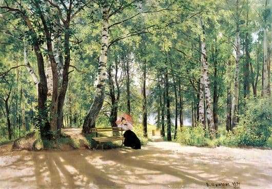 Description of the painting by Ivan Shishkin At the dacha