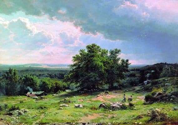 Description of the painting by Ivan Shishkin View of the surroundings of Dusseldorf