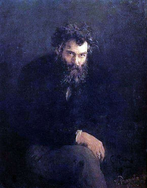 Description of the painting by Ivan Shishkin Self portrait