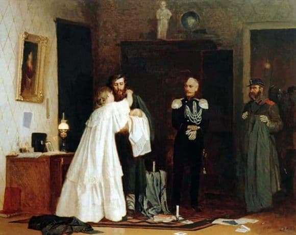 Description of the painting by Arseny Shurygin Arrest