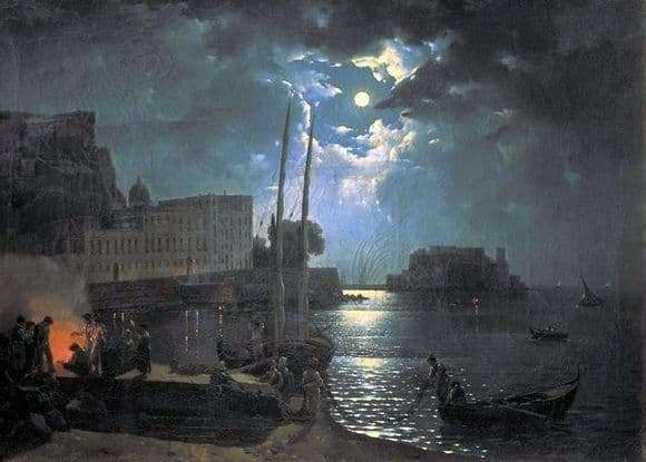 Description of the painting by Sylvestre Shchedrin Moonlit Night in Naples