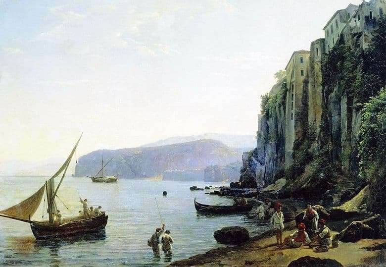 Description of the painting by Sylvester Feodosevich Shchedrin View of Sorrento near Naples