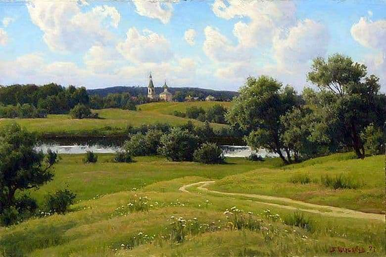 Description of the painting by Boris Valentinovich Scherbakov Russia near Moscow