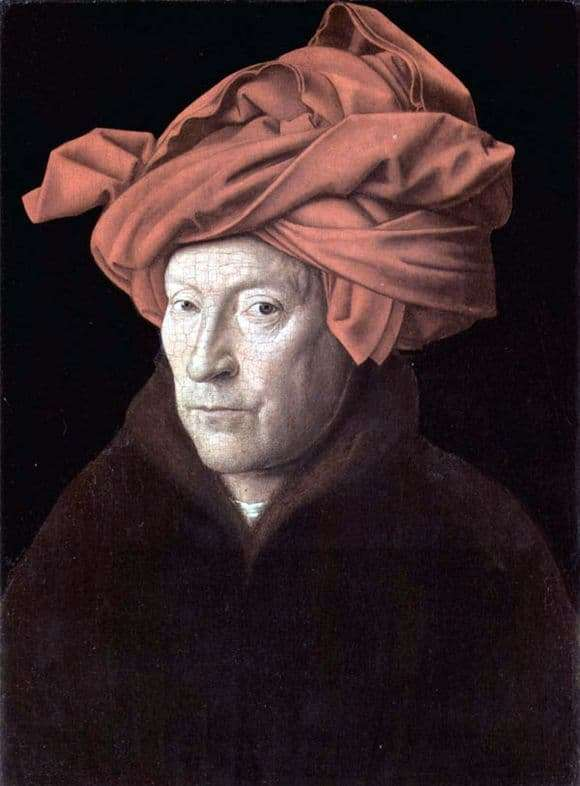 Description of the painting by Jan van Eyck Self portrait