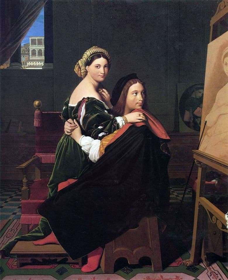 Description of the painting by Jean Auguste Ingres Raphael and Fornarin