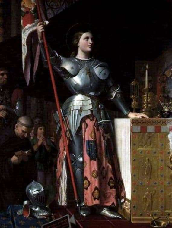 Description of the painting by Jean Auguste Ingres Joan of Arc at the coronation of Charles 7